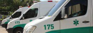 Ambulancias preparadas para emergencias