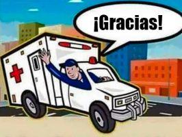 Gracias por dar paso a las Ambulancias de emergencia