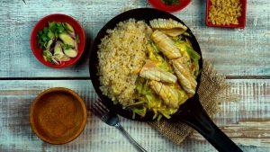 Alimentos de una cena saludable