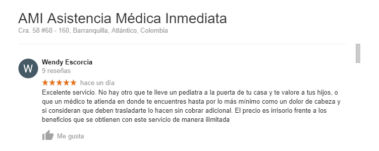 Asistencia Medica Inmediata opiniones
