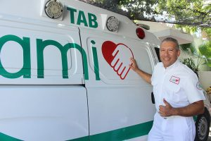 Paramédicos en la costa de Colombia