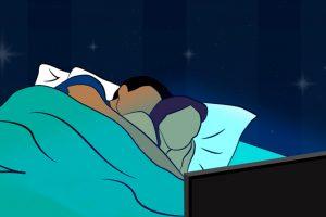 dormir con la tele encendida
